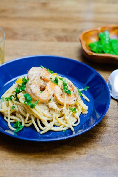 【レシピ】レストランの味をおうちで簡単に*海老のケイジャンクリームパスタ