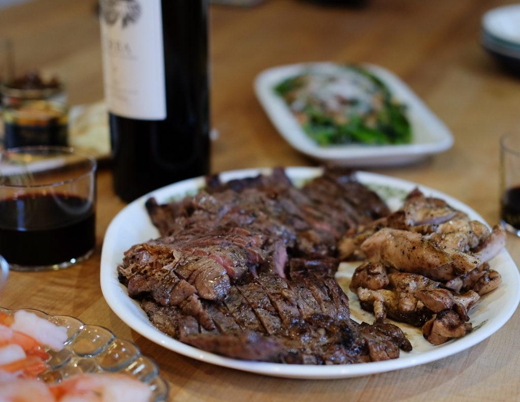 ハラミ肉のステーキ