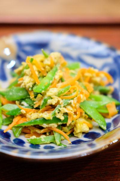 【レシピ】沖縄料理のアレンジ☀絹さやとにんじんのしりしり