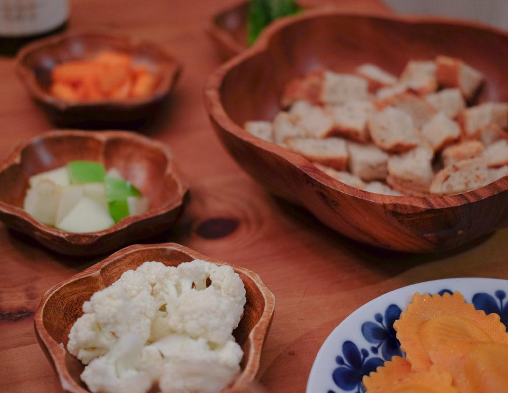 生野菜、青りんごなど