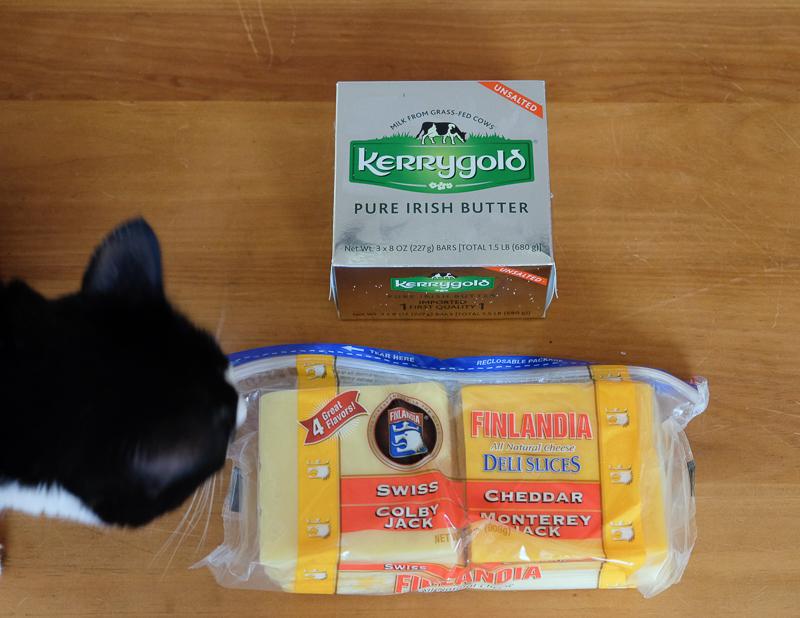 アイリッシュバターと4種のスライスチーズ