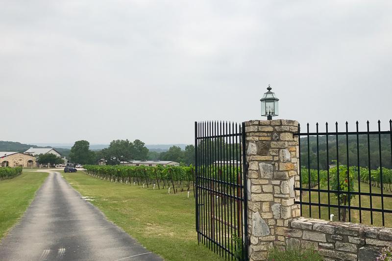 Flat Creek Estateの入口