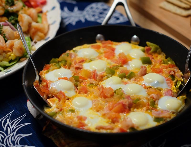 ウズラ卵と野菜のオーブン焼き