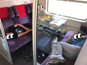 モロッコの鉄道の一等席