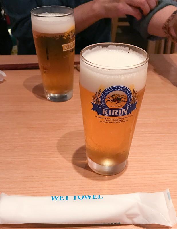 生ビール最高♪