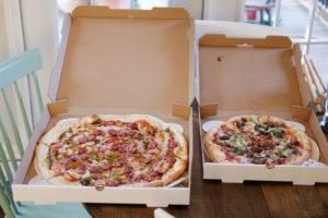 次男と二人のピザパーティ