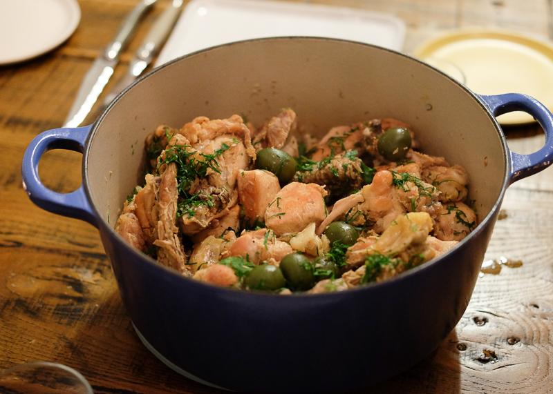 チキンとオリーブの煮込み