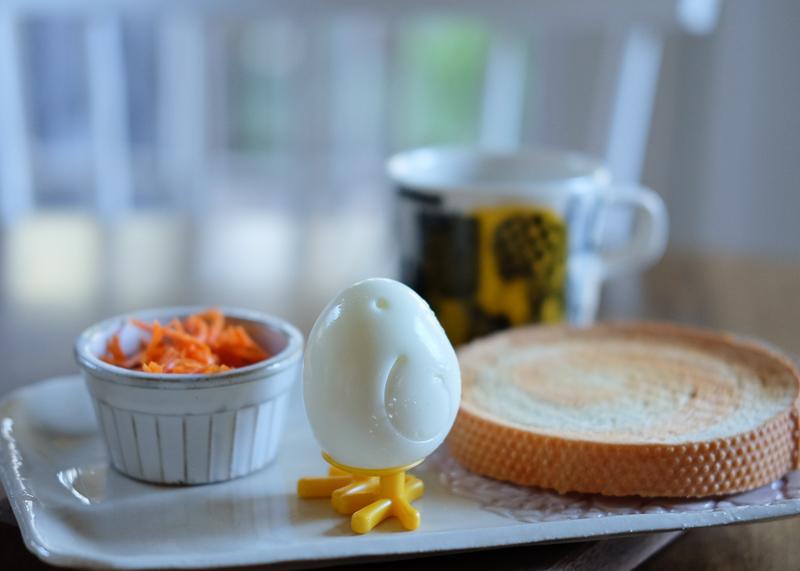 ひよこ型のゆで卵