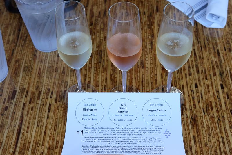 スパークリングワインのフライト