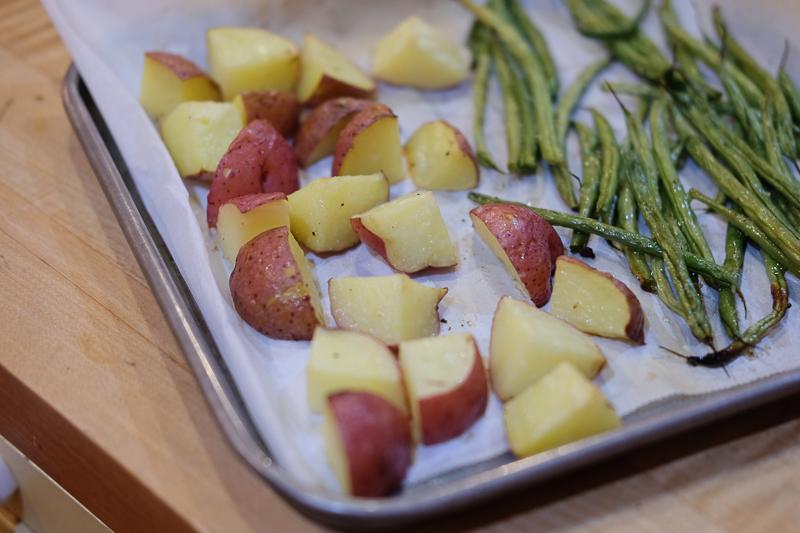 野菜はオーブントースターで