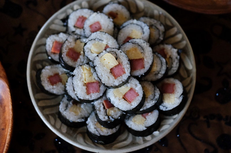 スパム&卵の巻き寿司