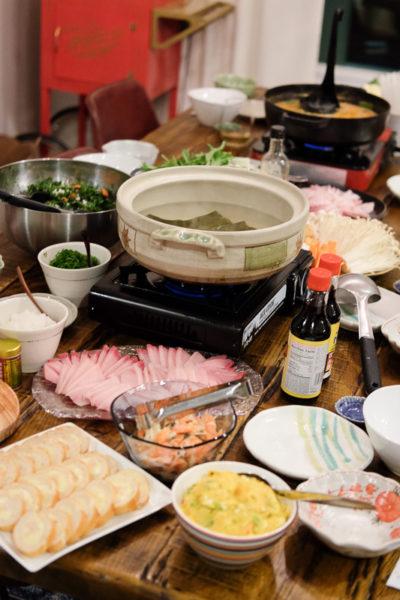 毎年恒例の鍋パーティ★幸せのブリしゃぶ&豆乳キムチ鍋。