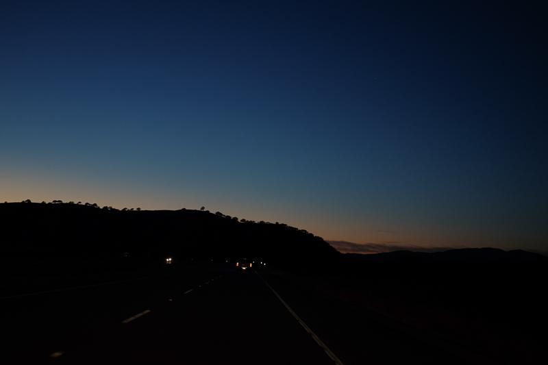 カリフォルニアの夕暮れ