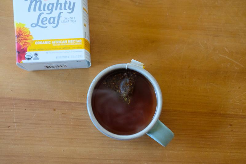 あったかいお茶に癒されます