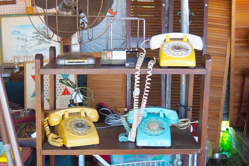 古い電話、かわいい