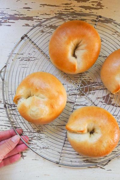 【パン】むっちりベーグル、焼けました♪