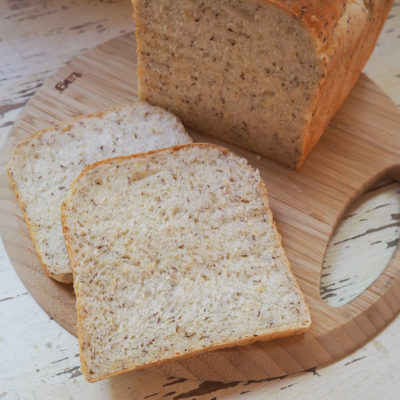 栄養をプラス♪ マルチグレイン入りのサンドイッチブレッド。