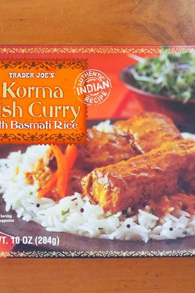 おすすめ❤トレーダージョーズ(トレジョ)の冷凍インド料理、「コルマ・フィッシュカレー」。