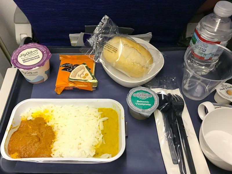 ブリティッシュエアウェイズの機内食