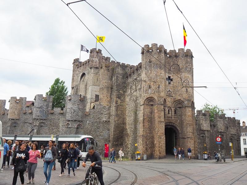 ゲントにある中世のお城