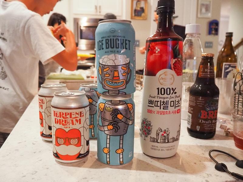 ビールと美酢