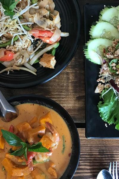 かぼちゃ入りレッドカレーが絶品♪ タイ料理屋さんでランチ。