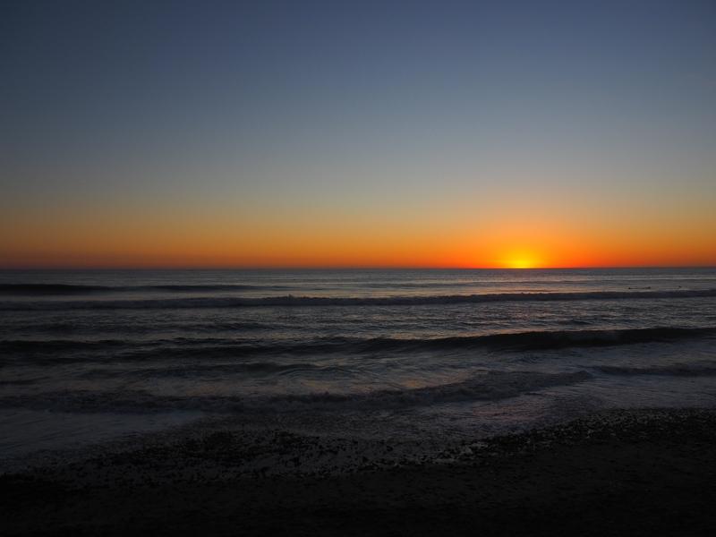 最高にきれいな夕日