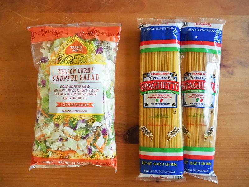 スパゲティ&イエローカレーサラダミックス