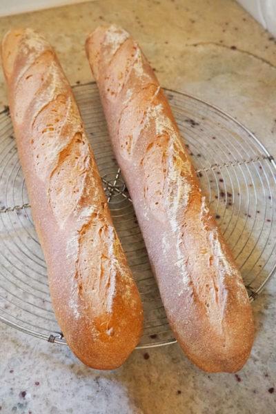 辻調・製パン技術講座 – 第2課『ストレート法で焼くライ麦入りバゲット』 – 3度目の正直?