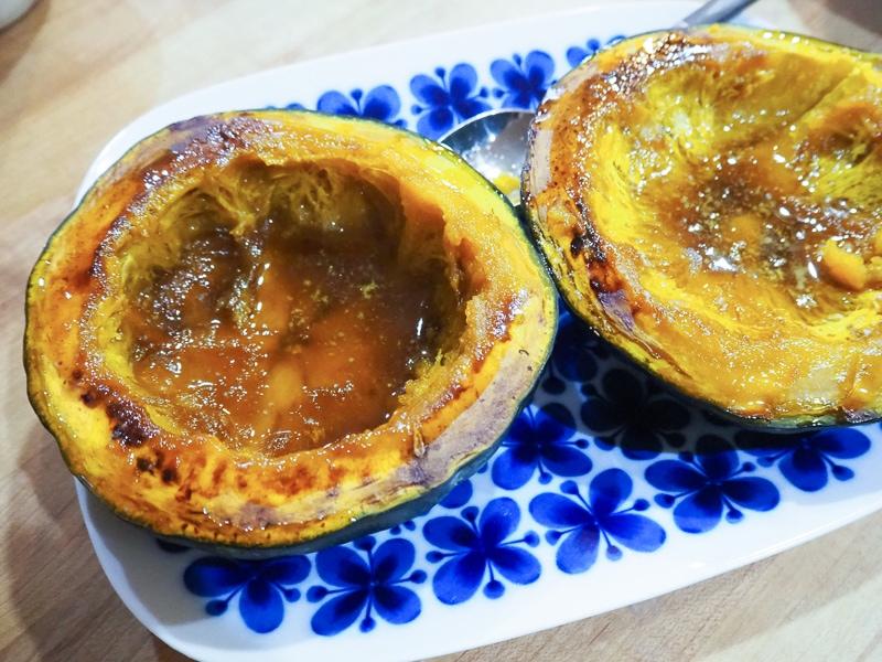 かぼちゃのブラウンシュガーバター焼き