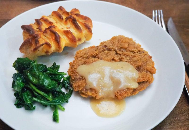 チキンフライドステーキ&マッシュポテト