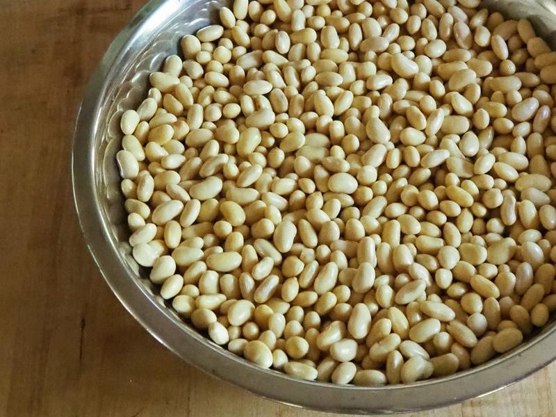 ふやかした大豆