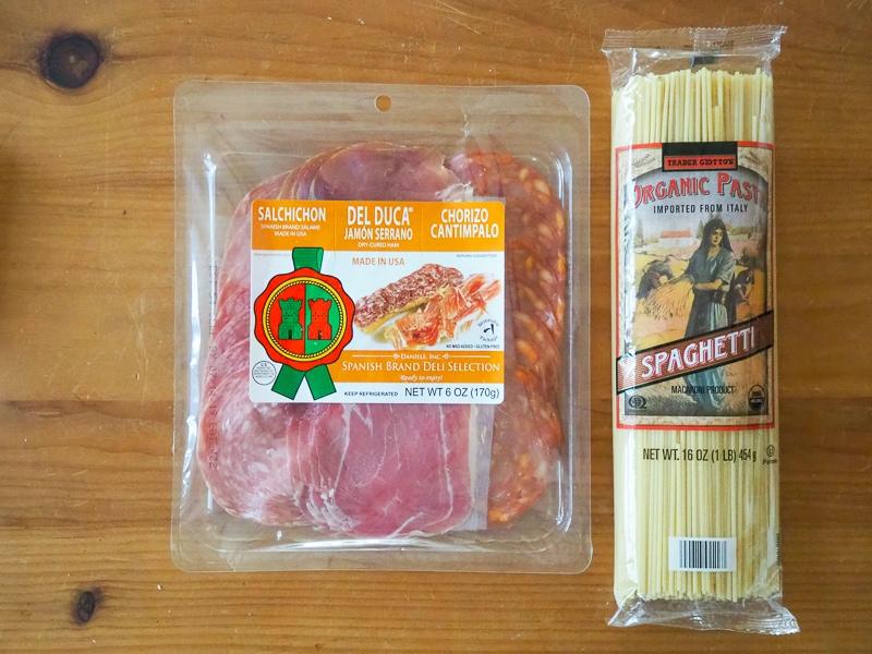 スペイン風ハムのセット&イタリア産パスタ