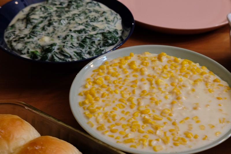 クリームコーン&クリームスピナッチ
