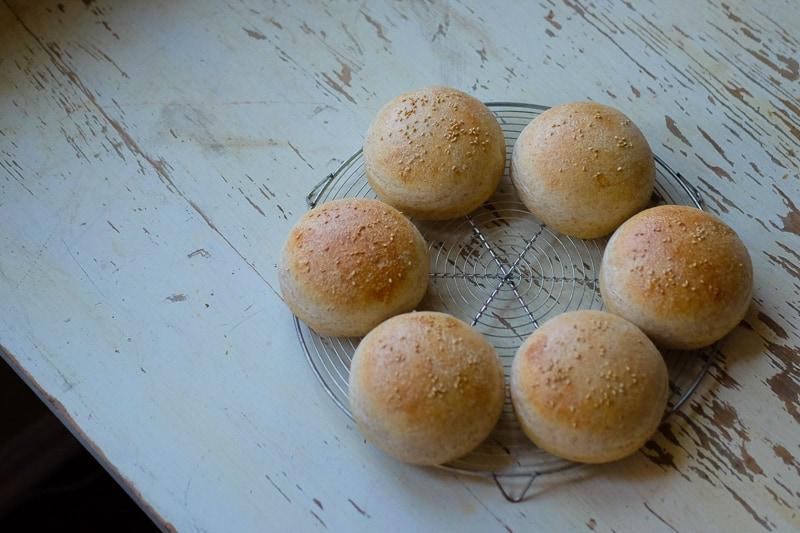 手作りハンバーガーバンズ