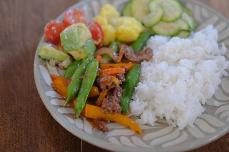 野菜たっぷり目のディナー