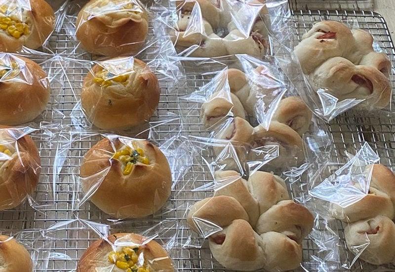 お花のベーコンエピ