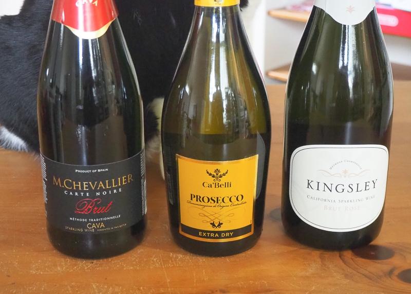スパークリングワイン3種
