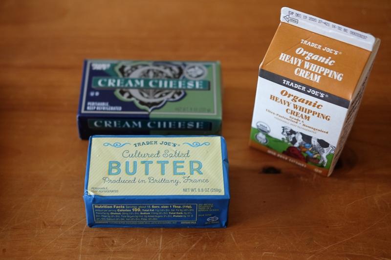 フランスのバター、クリームチーズ、生クリーム