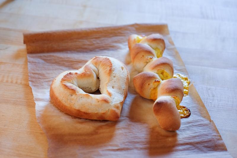 ハート形ミニバゲット&チーズエピ